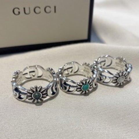 €260起 极简复古风 925纯银上新:Gucci 双G小雏菊系列来啦 手链、耳钉、戒指都有