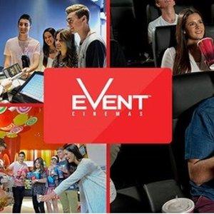 仅$13.5(原价$22)Event Cinemas 电影票团购 多家电影院可用
