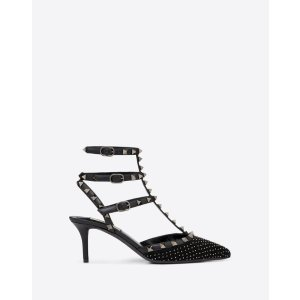 Rockstud Embroidered Fabric Pump 65 mm for Woman | Valentino Online Boutique