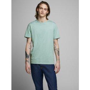 JackJones薄荷绿圆领T恤