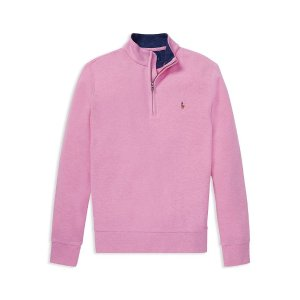 Polo Ralph LaurenBoys' Cotton-Mesh Half-Zip Pullover - Big Kid