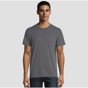 $16.7(原价$22.99) 单件仅$8白菜价:Hanes 男士圆领X-temp 舒适汗衫 2件装 L码