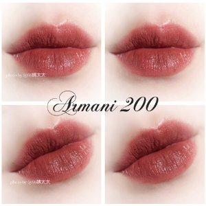 GIORGIO ARMANI beauty薄涂豆沙,厚涂吃土~红管唇釉 #200