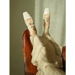 RACHEL COXHalene 圆币复古穆勒鞋