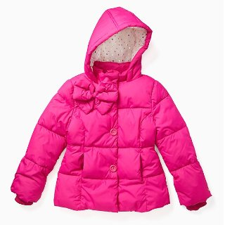 20% Off + Extra 30% Offkate spade Kids Bow Puffer Coat