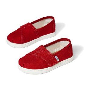 Toms儿童魔术贴帆布鞋