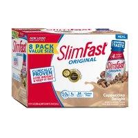 Slimfast 高蛋白 Cappuccino奶昔 8支装, 11 fl. oz