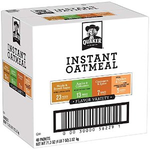 $9.58Quaker Instant Oatmeal Variety Pack 48 Counts