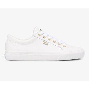 Keds皮质小白鞋