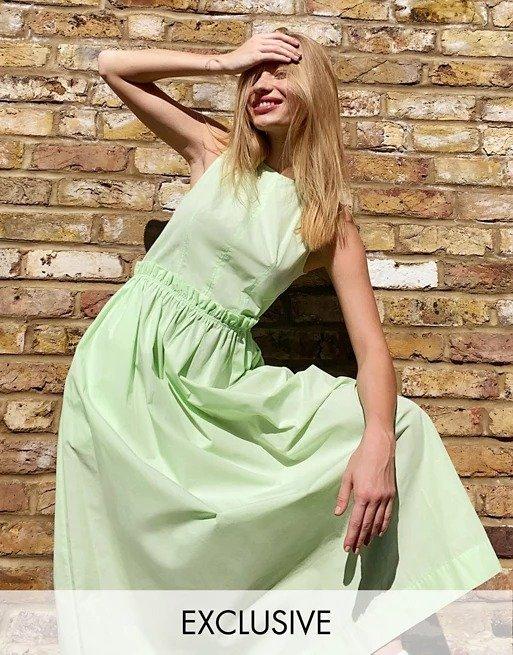 无袖府绸长裙