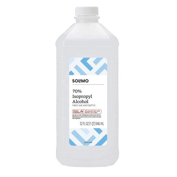 Solimo 70% 异丙醇消毒酒精 32 Oz