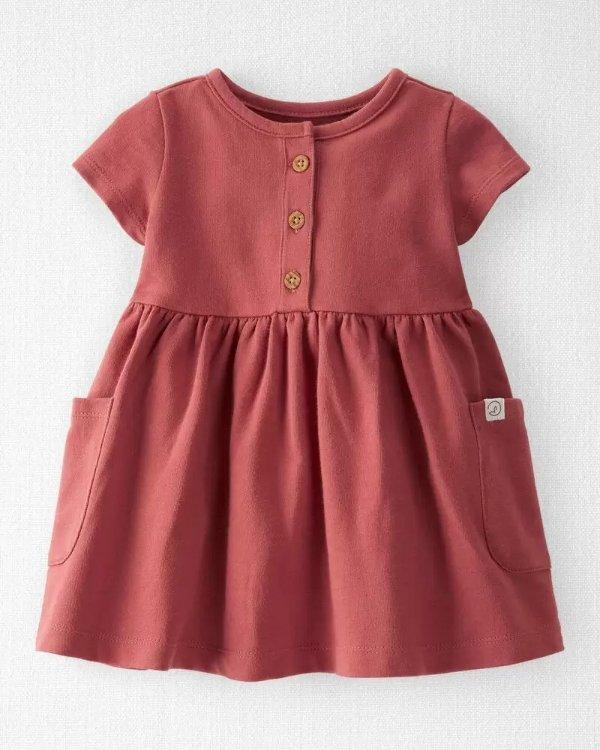 婴儿有机棉连衣裙