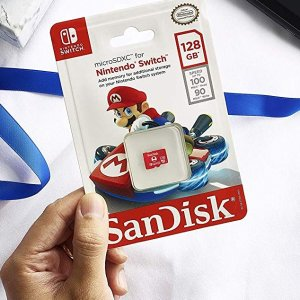 今日秒杀¥131SanDisk 128GB microSDXC 存储卡 适用于Switch