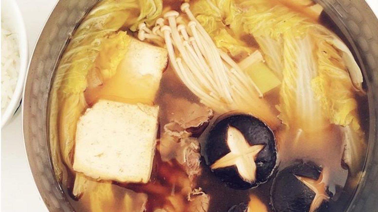 推荐一款居家菜谱——寿喜锅