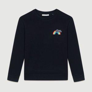 MajeTSWEAT Graphic fleece sweatshirt