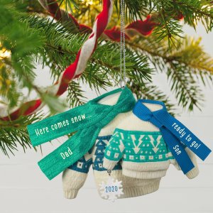 Bring On the Snow Dad and Son Matching Sweaters 2020 Ornament