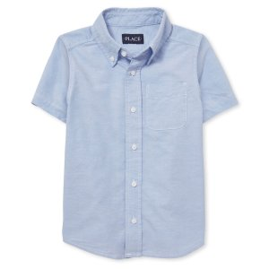 The Children's Place男孩英伦风制服短袖衬衫