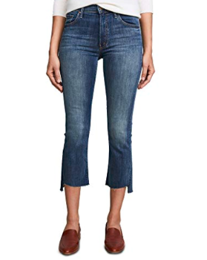 MOTHER Women's The Insider Crop Step Fray Jeans at Amazon Women's Jeans store