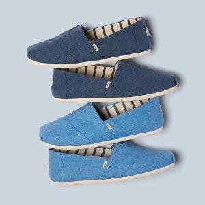 低至4折 + 额外减10刀TOMS官网 折扣区多款美鞋促销 一脚蹬超方便