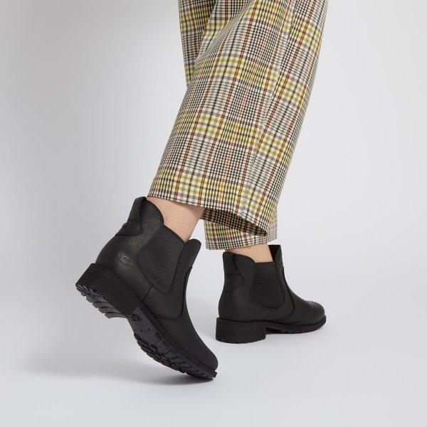 女款防水皮靴