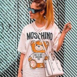 低至2折 可爱又百搭Moschino 美衣热卖 收T恤、卫衣、毛衣