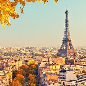 $449起 含机票+酒店+早餐4天/5天/6天 法国巴黎自助游旅行套餐  美国多地出发