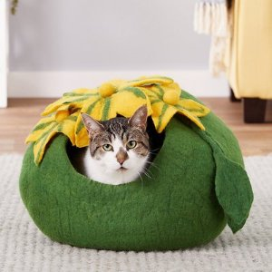Earthtone Solutions Emerald Haven Felted Wool Cat Cave Bed - Chewy.com