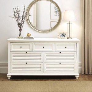 Home Decorators CollectionHamilton 7-Drawer White Dresser