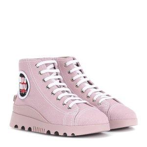Miu Miu帆布鞋