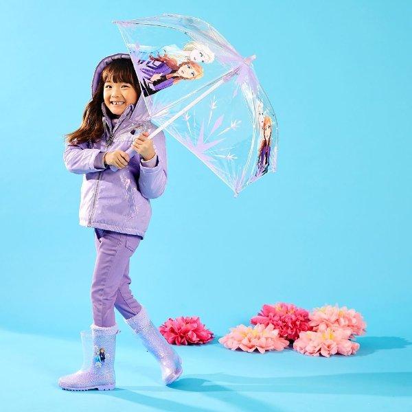Frozen 2 图案 女童雨衣