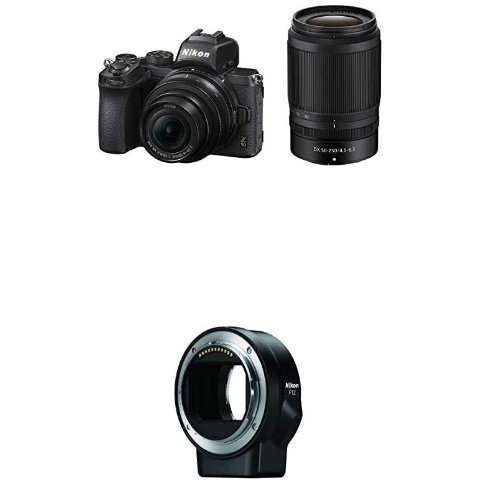 Nikon Z50 Camera 2-Lens Kit with FTZ Mount Adapter