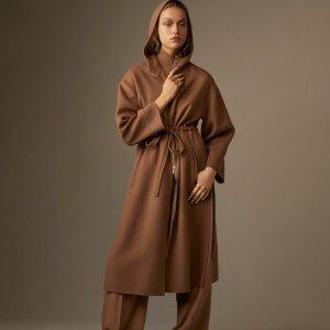 6折起!£144收新款logoT恤Max Mara 超强大促 经典色羊绒、骆驼毛大衣好价收