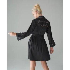 SomaSatin Short Robe