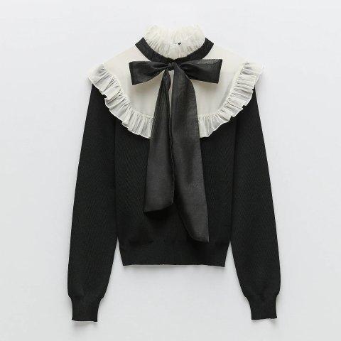 £25收小香风毛衣ZARA 针织衫毛衣 秋冬新款上市 速收小香风、新印花