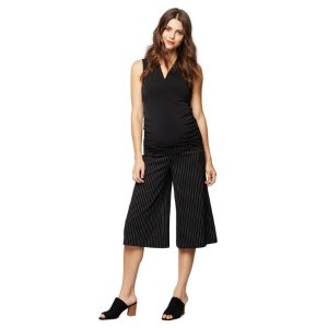 Under Belly Ponte Wide Leg Maternity Pants