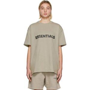 Essentials如断货请多刷!随时补货Khaki Logo T恤