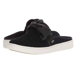 $52.62UGG 黑色蝴蝶结穆勒鞋 6.5码