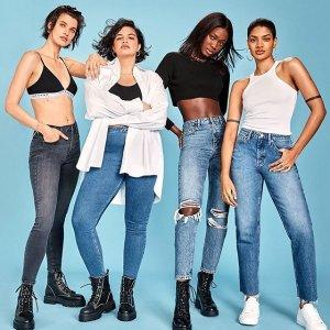 低至19.5 学生额外9折Topshop 牛仔裤热卖,妈咪裤、紧身裤、破洞裤走起