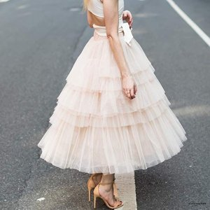 ccce273a8c ChicwishWomen's Nude Pink/Black Tiered Layered Mesh Ballet Prom Party Tulle  Tutu A-line