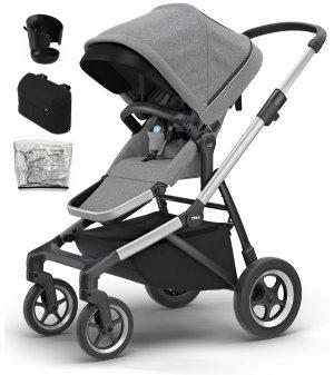 立减$215+无税Thule Sleek 城市婴儿车及配件套装 平稳舒适的百变金刚