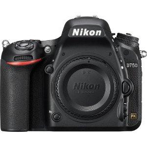 $1296.95 (原价$1996.95)Nikon D750 全幅单反机身 + PC附件套装