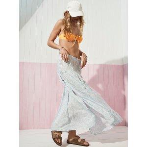 Simons2色入雪纺罩裙