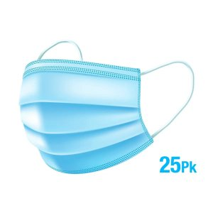 Disposable Face Masks Surgical mask For Home & Office - 3-Ply Breathable & Comfortable Filter Safety Mask - 25 PCS FDA - Monoprice.com