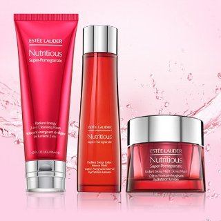 Enjoy up to 7-pc free giftEstee Lauder Nutritious Super-Pomegranate purchase