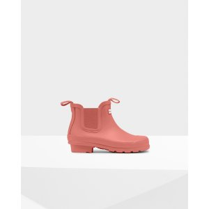 Hunter大童款粉色雨靴