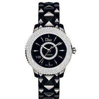 Dior VIII 系列镶钻机械黑陶瓷女表