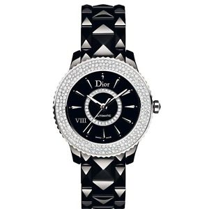 Extra $1500 OffDIOR VIII Automatic Diamond Ceramic Ladies Watches 4 styles