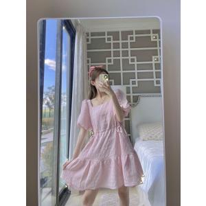 J.INGAddison Pink Puff Sleeve Midi Dress