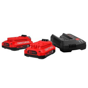 $79Craftsman 20V MAX 20 volt 2 Ah Lithium-Ion Battery and Charger Starter Kit 3 pc.