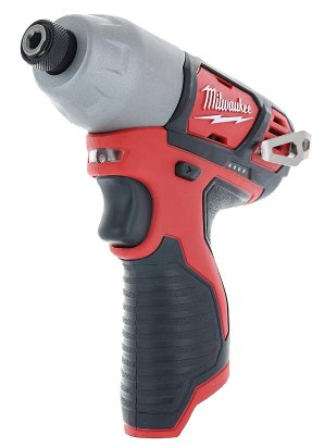 $34.95Milwaukee 2462-20 M12 1/4 Inch Hex Shank 12 Volt Lithium Ion Cordless 2,500 RPM 1,000 Inch Pounds Impact Driver